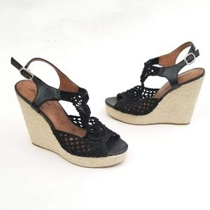 Lucky Brand Cute Wedge Espadrilles Size 9M / EUR39